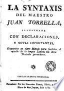 La Syntaxis del maestro Juan Torrella