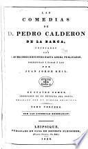 Las comedias de D. Pedro Calderón de la Barca