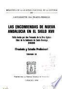 Las encomiendas de Nueva Andalucía en el siglo XVII
