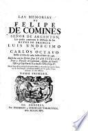 Las memorias de Felipe de Comines señor de Argenton,