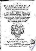 Las Metamorfoses, o Transformacione de Ovidio