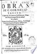 Las obras de C. Cornelio Tacito