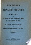 Lecciones de análisis químico y prácticas de laboratorio