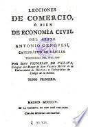 Lecciones de comercio ò bien de economia civil