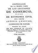 Lecciones de comercio, ó bien economía civil del abate Antonio Genovesi, catedrático de Náples