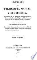 Lecciones de filosofía moral y elocúencio, 1