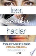 Leer, escribir hablar