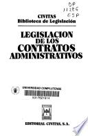 Legislación de los contratos administrativos