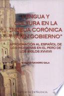 Lengua y cultura en la Nueva Corónica y buen gobierno