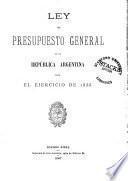 Ley de presupuesto general de la República Argentina