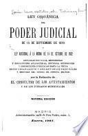 Ley orgánica del poder judicial de 15 de septiembre de 1870 y Ley adicional á la misma de 14 de octubre de 1882