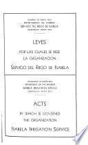 Leyes por las cuales se rige la organización Servicio del riego de Isabela ...