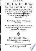 Libro de la Iberiada de los hechos de Scipion Africano (etc.)