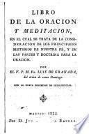 Libro de la oración y meditación...