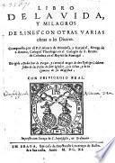 Libro de la vida y milagros de S. Ines