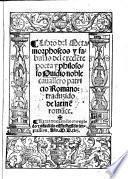 Libro del Metamorphoseos y fabulas, traduzido de latinenromance. 2. impression