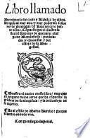 Libro llamado Menosprecio de corte y Alaba[n]ça de aldea
