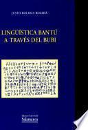 Lingüística Bantú a través del Bubi