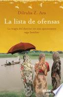 Lista de ofensas (Versión Hispanoamericana)