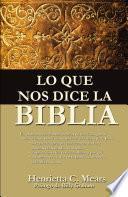 Lo que nos dice la Biblia