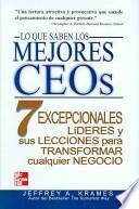 Lo que saben los mejores CEOs