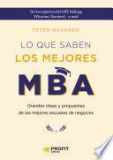 Lo que saben los mejores MBA