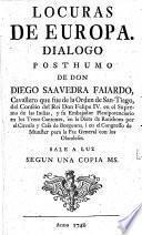 LOCURAS DE EUROPA DIALOGO POSTHUMO