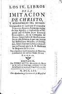 Los 4 libr. de la imitacion de Christo