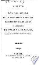 Los Dos siglos de la literatura francesa