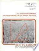 Los macrontrimentos en la nuticion de la planta de arroz