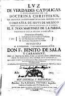 Luz de Verdades Católicas y Explicación de la Doctrina Cristiana