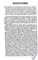 Manifiesto primero en que empiezan á ver la luz publica, las representaciones, providencias y demas procederes de todos los que han intervenido ... en la causa del hospital militar de san Ambrosio de la Habana