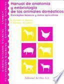 Manual de anatomía y embriología de los animales domésticos : conceptos básicos y datos aplicativos