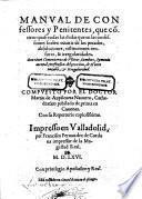 Manual de confessores y penitentes etc