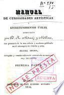 Manual de curiosidades artísticas y entretenimientos útiles