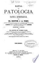 Manual de patología y de clínica quirúrgicas