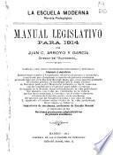 Manual legislativo para 1914