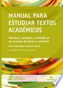 Manual para estudiar textos académicos