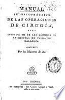 Manual teorico-práctico de las operaciones de cirugía