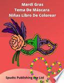 Mardi Gras Tema De Máscara Niñas Libro De Colorear