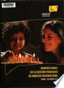 Memoria anual de la sección paraguaya de Amnistía Internacional