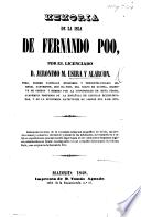 Memoria de la isla de Fernando Poo