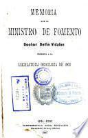 Memoria del Ministro de Fomento ... al Congreso Ordinario de ...
