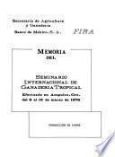 Memoria del Seminario Internacional de Ganadería Tropical