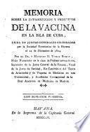 Memoria sobre la introducción y progresos de la vacuna en la Isla de Cuba