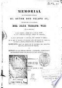 Memorial de su magestad católica el señor don Felipe IV presentado a la santidad del papa Urbano VIII en la embajada a que fueron a Roma en el año de 1633 D. fray Domingo Pimentel ... y D. Juan Chumacero y Carrillo ...