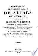 Memorias historicas de la villa de Alcalá de Guadaira