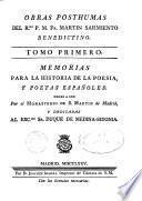 Memorias para la historia de la poesía y poetas españoles