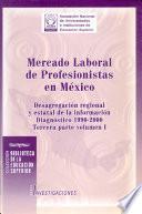 Mercado laboral de profesionistas en México: v. 1. Desagregación regional y estatal de la información, diagnóstico 1990-2000