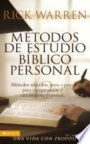 Métodos de estudio bíblico personal